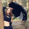 菲诺晴雨伞折叠女韩国创意斑马太阳伞黑胶防晒防紫外遮阳伞小黑伞